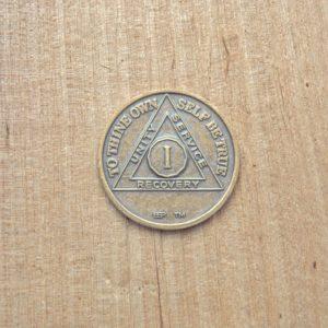 Bronze mønt 1 år
