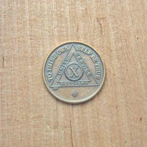 Bronze mønt 10 år