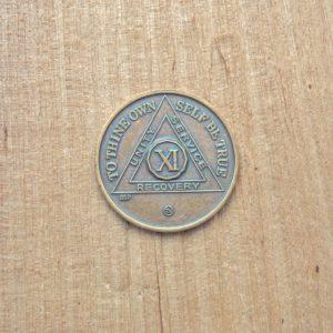 Bronze mønt 11 år