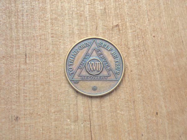 Bronze mønt 17 år