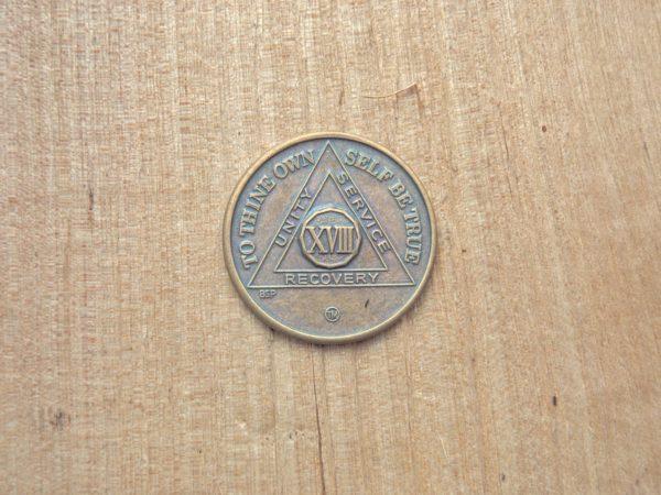 Bronze mønt 18 år