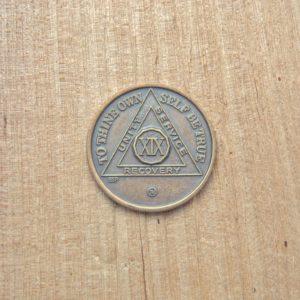 Bronze mønt 19 år