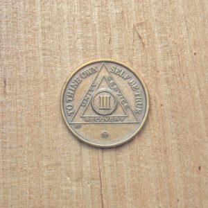 Bronze mønt 3 år