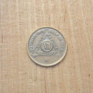 Bronze mønt 7 år