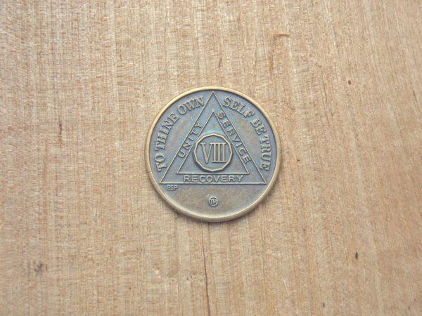 Bronze mønt 8 år