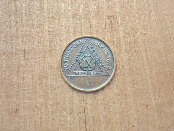 Bronze mønt 9 år