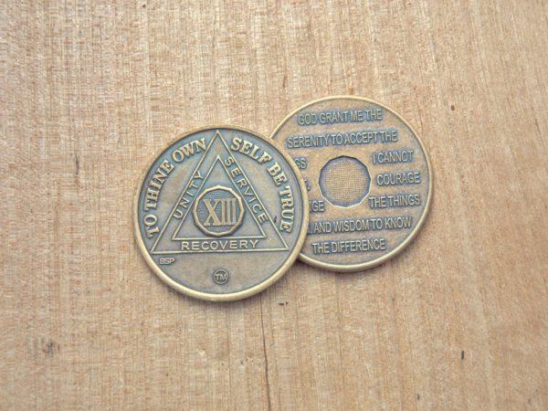 Bronze mønt 13 år