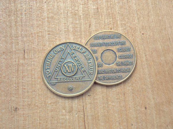 Bronze mønt 14 år