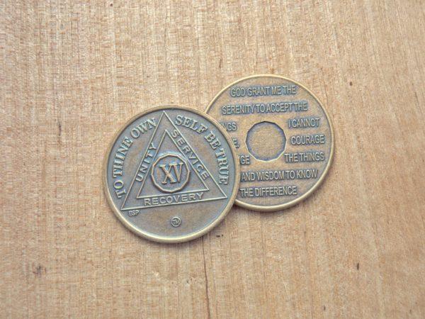 Bronze mønt 15 år