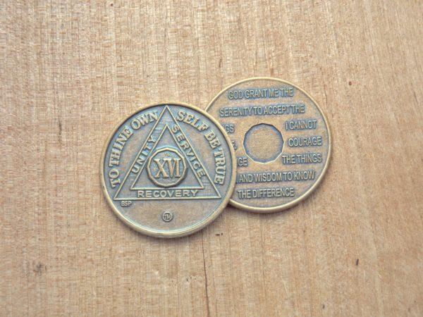 Bronze mønt 16 år
