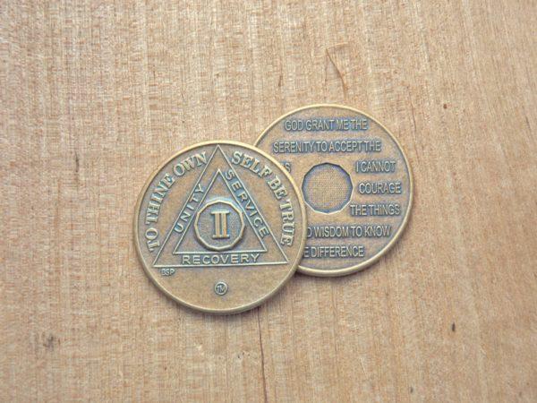 Bronze mønt 2 år