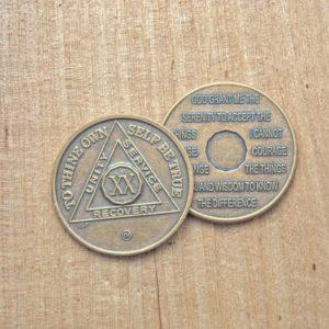 AA bronze mønter