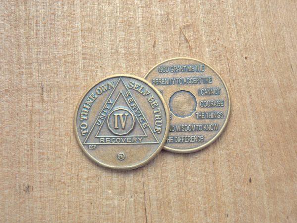 Bronze mønt 4 år