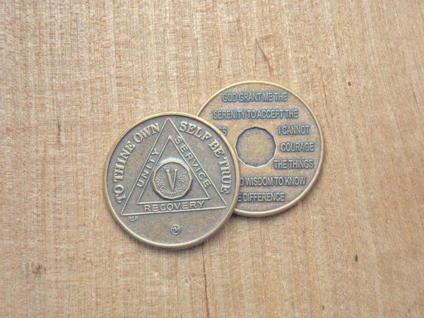 Bronze mønt 5 år