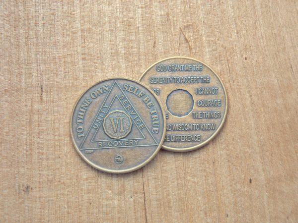 Bronze mønt 6 år