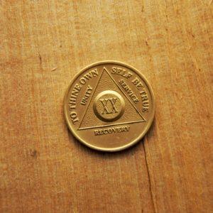Bronze mønt 20 år (type 2)