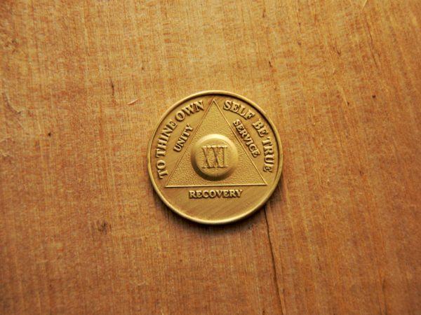 Bronze mønt 21 år