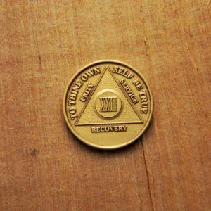 Bronze mønt 22 år