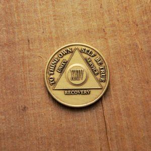 Bronze mønt 24 år