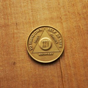 Bronze mønt 25 år