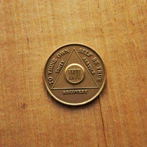 Bronze mønt 27 år