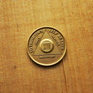 Bronze mønt 28 år