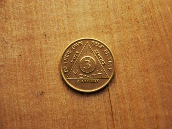 Bronze 3 måneds mønt (type 2)