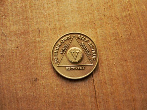 Bronze mønt 5 år (type 2)