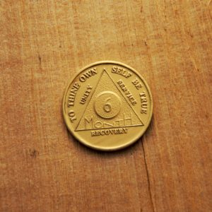 Bronze 6 måneds mønt (type 2)