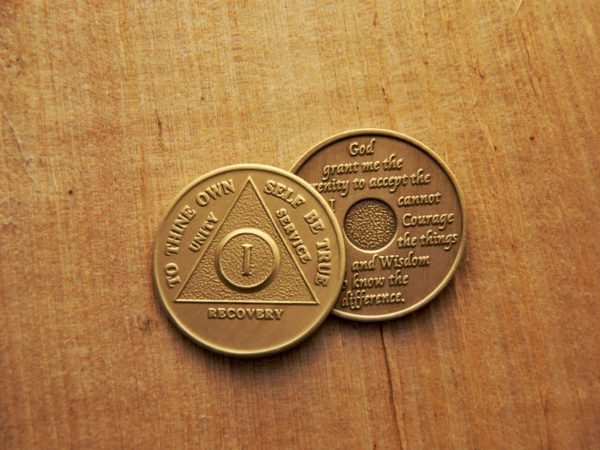 Bronze mønt 1 år (type 2)