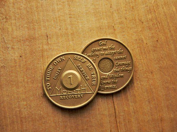Bronze 1 måneds mønt (type 2)