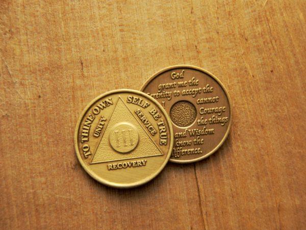 Bronze mønt 3 år (type 2)