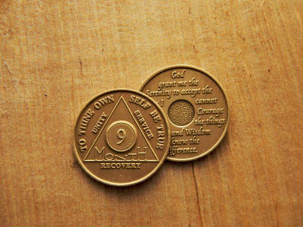 Bronze 9 måneds mønt (type 2)