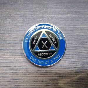 AA mønt 10 år, tri-plate
