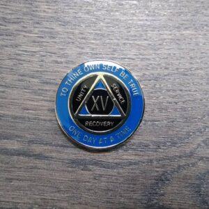 AA mønt 15 år, tri-plate