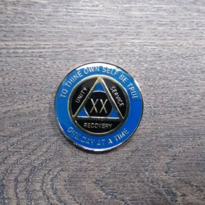 AA mønt 20 år, tri-plate