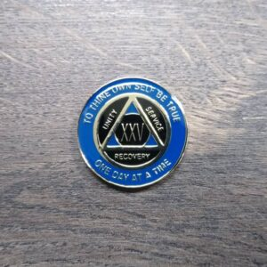 AA mønt 25 år, tri-plate