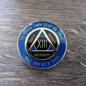 AA mønt 13 år, tri-plate